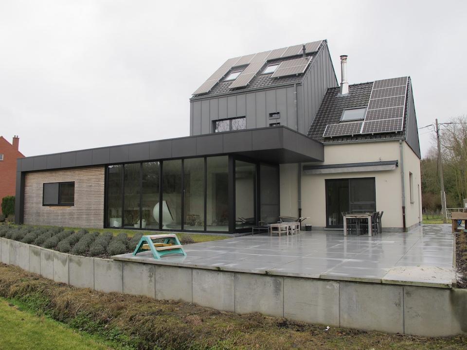 Uitbreiding woning en nieuw interieur lef architect for Interieur bedrijf